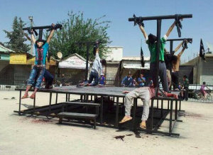 ISIS crucifixion of Christians